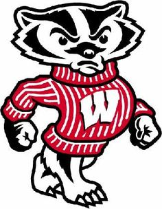 University of Wisconsin Badgers (Bucky) Die-cut Vinyl Decal / Sticker ** 4 Sizes ** Wisconsin Badgers Football, Football America, Wisconsin Dells, Electronics Projects, Bucky, Theme Sport, Team Theme, Badger Sports, University Of Wisconsin