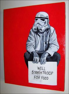 If trooper is hungry he will work