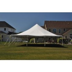 This 30x60 Sectional Canopy Pole Tent is commercial rental quality and is the perfect party tent for your wedding, graduation, church function, or other event. This commercial grade block-out tent is also an excellent addition to any party tent rental business or event business. Our high quality commercial vinyl pole tents are built to last. Whether you call it a party tent, canopy tent, event tent, wedding tent, or gazebo - we have what you need!