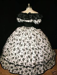 Civil War Era Dress - Visit to grab an amazing super hero shirt now on sale! Civil War Fashion, 1800s Fashion, Victorian Fashion, Vintage Gowns, Vintage Outfits, Southern Belle Dress, Southern Ladies, Civil War Dress, Old Dresses