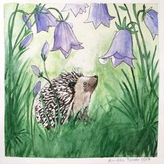 The Hedgehog postcard Hedgehog Illustration, Postcard Paper, Woodland Art, Collections Of Objects, Paper Dimensions, Watercolor Paintings, Watercolors, My Photos, How To Draw Hands