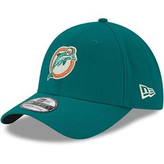 a09975cdf70 Men s Miami Dolphins New Era Aqua Team Classic Throwback 39THIRTY Flex Hat