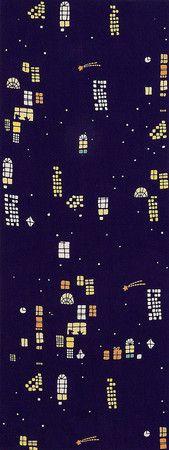 ももろ 手ぬぐい - 手ぬぐい夜の窓辺