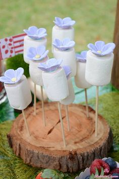 Little Big Company | The Blog: Bambi and Friends in the Enchanted Woodland Party by Rubiez n Cream #marshmallow pops, #sweet treats #dessertbuffet