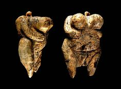 Venus of Hohle Fels, the oldest known statue of its kind, dated to between 35,000 and 40,000 years ago,[1] belonging to the early Aurignacian, at the very beginning of the Upper Paleolithic, which is associated with the earliest presence of Cro-Magnon in Europe. This female figure is the oldest undisputed example of a depiction of a human being yet discovered.