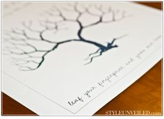 Fingerprint tree printable