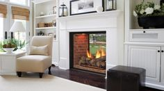 Marquis See-Thru DirectVent Gas Fireplaces-Majestic Products for the lake house between living room and deck