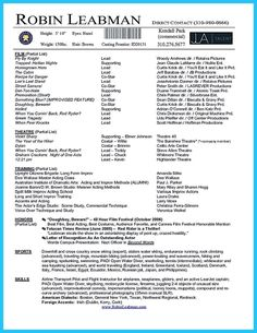 awesome brilliant acting resume template to get inspired - Blank Resume Templates Free