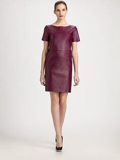 Yves Saint Laurent - Leather Dress - Saks.com