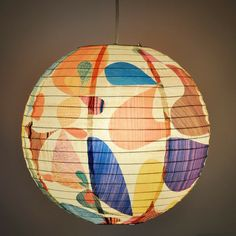 The colors, the lantern, loving everything about this Rex Ray Velocity Paper Lantern