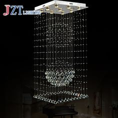 Z best price Square Villa Hotel Project Light Double Entry Stair Long Crystal Droplight Creative Personality Messenger Wire Lamp #Affiliate
