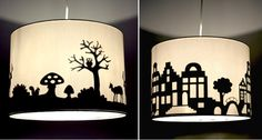 DIY lampshade silhouette (projects crafts do it yourself interior design home decor easy fun cheap ideas inspiration reduce reuse recycle used upcycle repurpose lamp) Silhouette Projects, Upcycled Home Decor, Diy Home Decor, Home And Deco, Vinyl Projects, Lamp Shades, My New Room, Reduce Reuse, Reuse Recycle