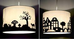 DIY lampshade silhouette