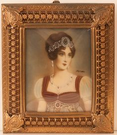 Antique Miniature portrait on Ivory by carlislegallery on Etsy, $279.00