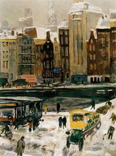 Jan Sluyters  (1881-1957)Townview, Amsterdam Het Rokin