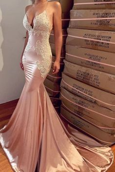 Buy Sexy Mermaid Backless Prom Dress Nude V Neck Long Lace Spaghetti Straps Prom Dresses online.Shop short long ombre prom, homecoming, bridesmaid evening dresses at Couture Candy Cocktail party dresses, formal ball gowns in ombre colors. Gold Mermaid Prom Dresses, Straps Prom Dresses, Backless Prom Dresses, Lace Evening Dresses, Formal Dresses, Nude Prom Dresses, Long Dresses, Party Dresses, Dress Prom