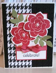 Celebrate Card, Stems in Red!