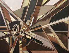 ARTFINDER: Fractured Perspectives by Liam Hennessy - 50cm x 40cm x 2cm Original abstract painting on stretched canvas    this work was inspired by Futurism and Vorticism, and the utopian promise of 20th century...