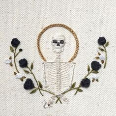 These Skeleton Embroideries Give Instagram Life