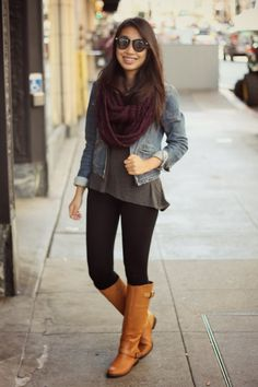 This outfit looks super comfy and right on trend with #FallFashion!