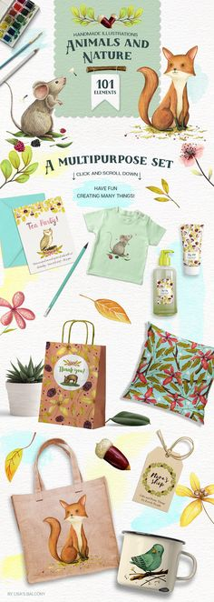 Animals and Nature - Design Kit by Lisa's Balcony