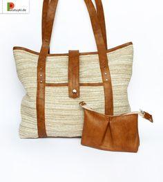 Set: Tasche und Kosmetiktasche «Schilf» von Patatuyki auf DaWanda.com