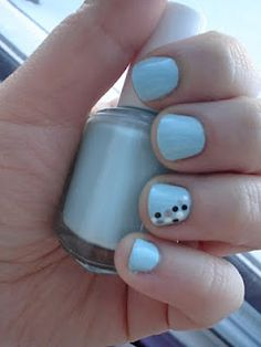 Essie Mint Apple Candy with Nail Art - simply cute!