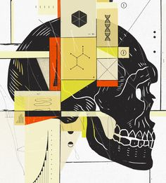 New York Times Two illustrations for NYT Book Review on the ancients and science.
