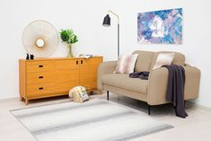 Canapea Fixa 2 locuri Skolm Sand #homedecor #inspiration #interiordesign #livingroom #decoration Entryway Bench, Couch, Throw Pillows, Living Room, Interior Design, Bed, Inspiration, Furniture, Home Decor