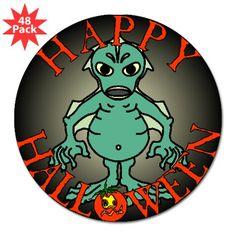 Scary Halloween Cyprinus Sticker 48 Pack