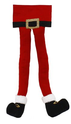"22"" Santa legs wreath enhancement. #Christmas #Santa #legs #wreath #enhancement #craigbachman"