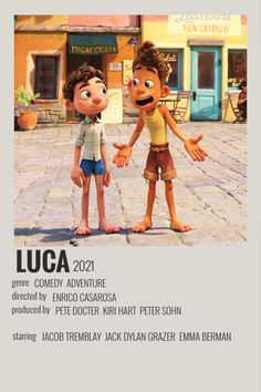 luca minimalist movie poster