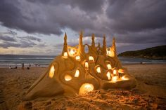 This is the #coolest #sandcastle I have ever seen!  #It_glows