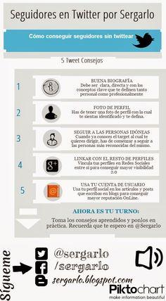 El Rincón de Sergarlo: [Infografía] Cómo conseguir seguidores sin twittear