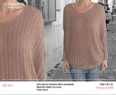 #Sweater acanalado CS 011 Tejido con lurex Color nuez M,L,XL $990
