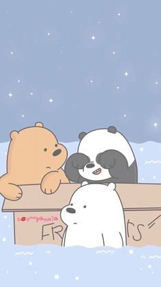 Bear Cartoon Wallpaper Iphone, Disney Phone Wallpaper, Bear Wallpaper, Kawaii Wallpaper, Cute Wallpaper Backgrounds, Aesthetic Iphone Wallpaper, Tumblr Wallpaper, We Bare Bears Wallpapers, Panda Wallpapers