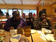 Some of the volunteers at the recent Volunteer Appreciation get together at Zyka's restaurant.