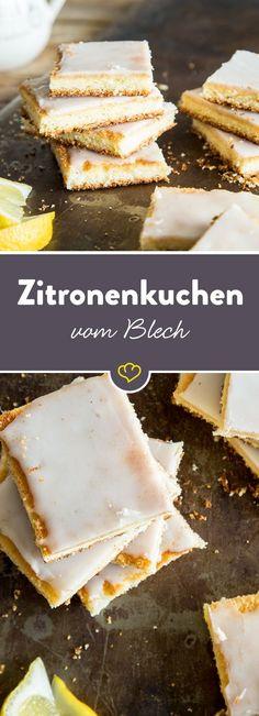 Sommer, Sonne, Zitronenkuchen. Und zwar en masse. Heute kommt der Kuchenklassiker nämlich nicht aus der Kastenform, sondern vom Blech.
