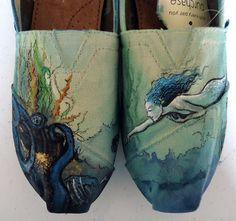 Mermaid TOMS. $155.00, via Etsy.