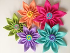 Ribbon flowers 2