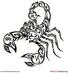 Scorpio Tattoo Designs | Pin Scorpion Tattoo Design Tribal Tattoos The Dtattoos On Pinterest ...