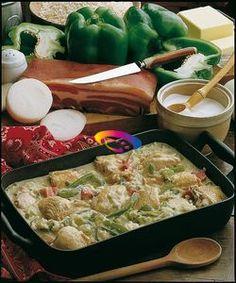 Pollo in umido con riso e peperoni  #CucinareMeglio #ricette