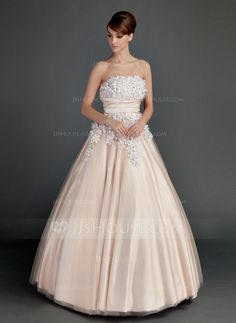 BEAUTIFUL for SPRING! Quinceanera Dresses - $198.99 - Ball-Gown Strapless Floor-Length Tulle Charmeuse Quinceanera Dress With Ruffle Beading Flower(s) Strapless-Floor-Length-Tulle-Charmeuse-Quinceanera-Dress-With-Ruffle-Beading-Flower-S-021015713-g15713