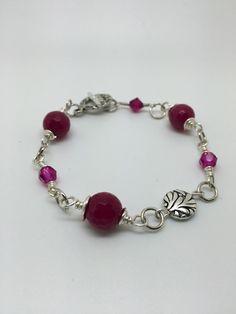 Pink Swarovski wire wrapping bracelet – Luzjewelrydesign