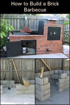 Spend quality time with family and friends outdoors with your very own brick barbecue!