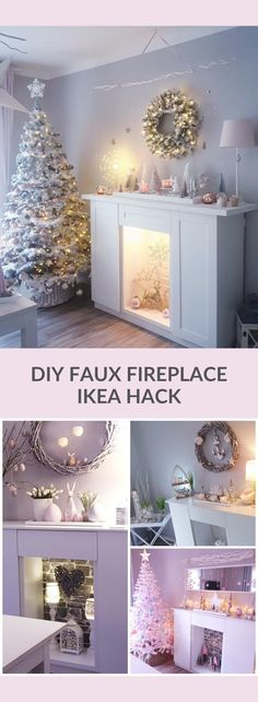 DIY Faux Fireplace from IKEA kitchen cabinets. Make a faux fireplace from IKEA kitchen cabinets. Easy project you can do in an afternoon. kitchen accessories DIY Faux Fireplace from IKEA kitchen cabinets - IKEA Hackers Ikea Metod Kitchen, Ikea Kitchen Cabinets, Ikea Fireplace, Diy Faux Fireplace, Fireplace Kitchen, Fireplace Mantels, Ikea Hacks, Ikea Home, Decorating Blogs