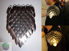 Scalemail Shoulder Piece by DragonMaillie