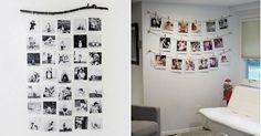 Inspírate con estas ideas para decorar una pared con fotos. ¡Económico y sencillo! http://a.facilisimo.com/v2/2075714?fba