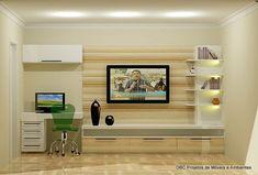 Resultado de imagem para home office integrado na sala