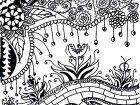 Display image coloring-adult-flower-carnivorous